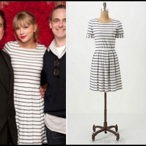 Anthropologie Scalloped Stripes Dress Taylor Swift